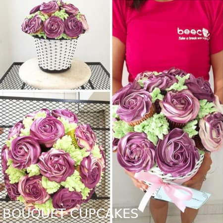 bouquet wedding bali cake cupcakes